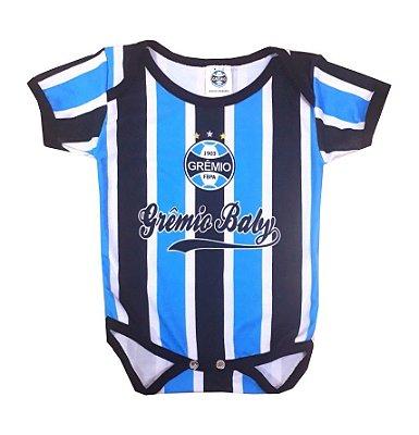 Body Grêmio Manga Curta Listras Oficial