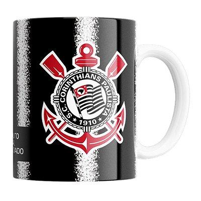Caneca Corinthians Manto Sagrado Preta 330ml