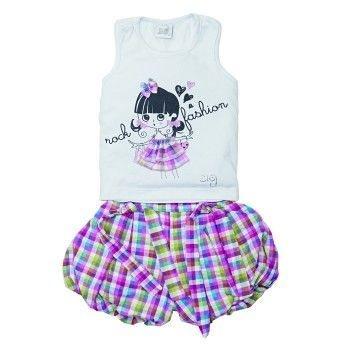 Conjunto Infantil ZigMundi Feminino Rock Fashion