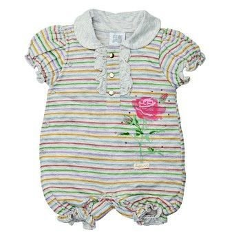 Macacão Bebê ZigMundi Curto Feminino Roses