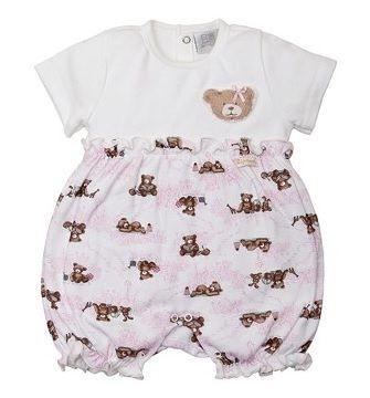 Macacão Bebê ZigMundi Curto Feminino Teddy