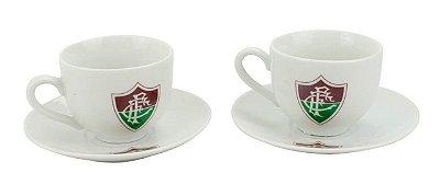 Jogo Com 2 Xícaras De Porcelana Fluminense 180ml
