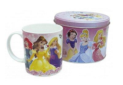 Caneca De Porcelana Na Lata Princesas 350ml
