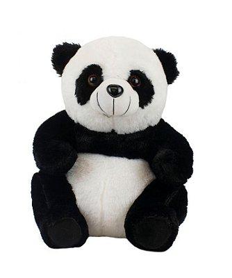 Pelúcia Urso Panda Sentado 20cm