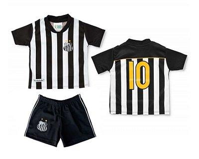 Conjunto Uniforme Bebê Infantil Santos Oficial