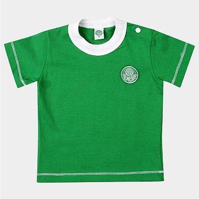 Camiseta Bebê Palmeiras Verde Oficial