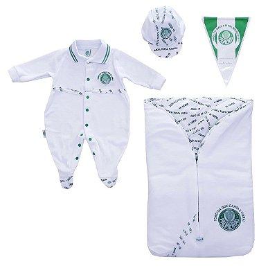 Kit Maternidade Plush Palmeiras com Saco de Dormir Revedor