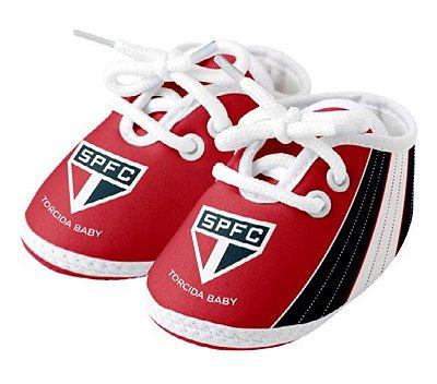 Chuteira Bebê São Paulo Vermelha Torcida Baby
