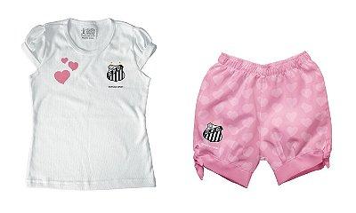 Conjunto Bebê Santos Rosa - Torcida Baby