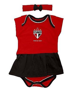 Body Saia Com Tiara São Paulo - Torcida Baby