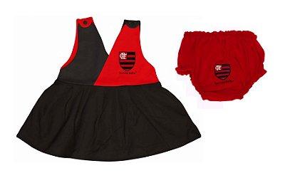 Vestido Bebê Flamengo Com Calcinha - Torcida Baby