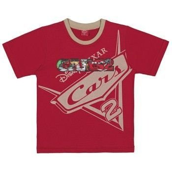 Camiseta Infantil Tip Top Carros Vermelha ou Azul