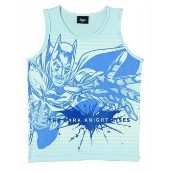Camiseta Tip Top Regata Batman Movie Azul, Branca ou Verde