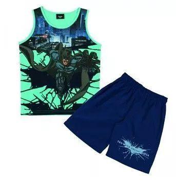 Conjunto Infantil Tip Top Curto Batman Azul ou Verde