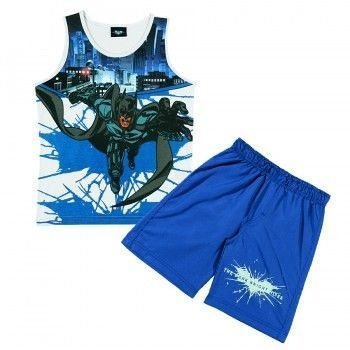 Conjunto Tip Top Curto Batman Movie Azul ou Verde