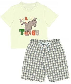 Conjunto Infantil Tip Top Dino Bege ou Branco