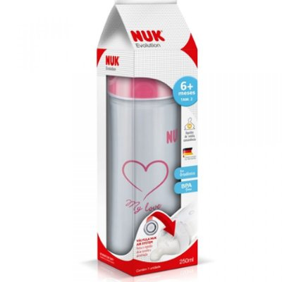 Mamadeira Nuk Evolution Girl 250ML S2