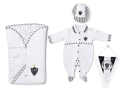 Kit Maternidade Atético MG com Saco de Dormir Masculino Oficial