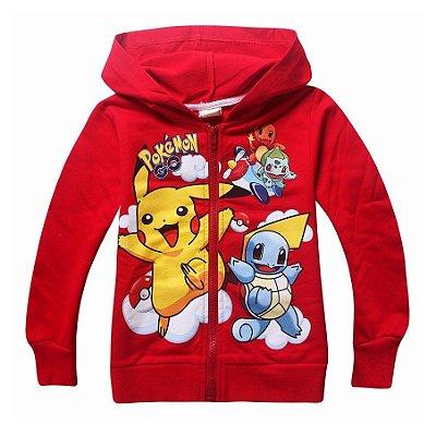 Blusa Malha Infantil Pokemon Vermelha