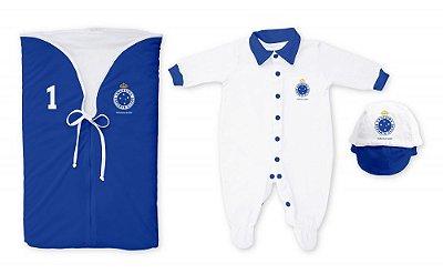 Kit Cruzeiro Saída Maternidade Azul - Torcida Baby