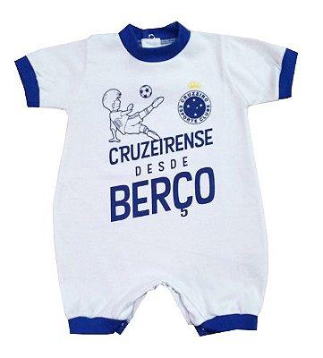Macacão Cruzeiro Desde Berço - Torcida Baby