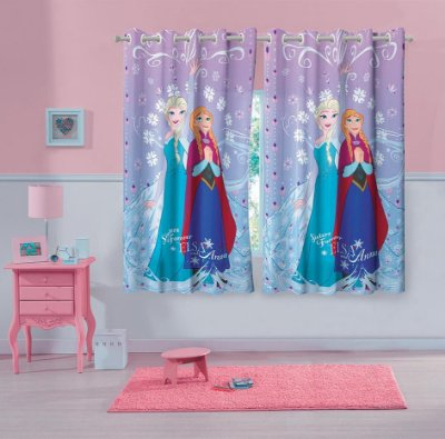 Cortina Infantil Frozen 1,50 m x 1,80 m Com 2 peças - Lepper