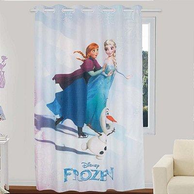 Cortina Infantil Frozen Glitter 1 peça 1,50 x 2,20 - Lepper