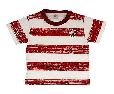 Camiseta Bebê Fluminense Listras Revedor
