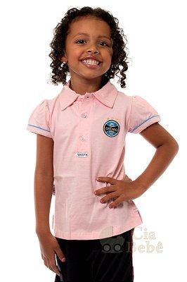Camisa Polo Infantil Grêmio Rosa Oficial