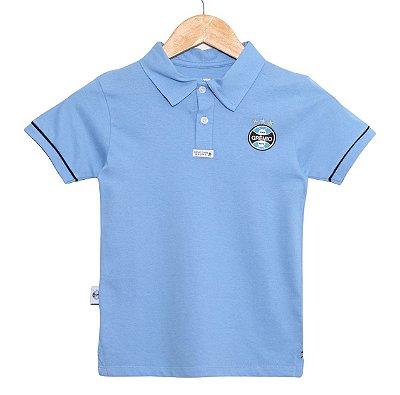 Camisa Polo Infantil Grêmio Azul Oficial