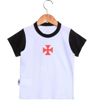 Camiseta Bebê Vasco Bicolor Oficial