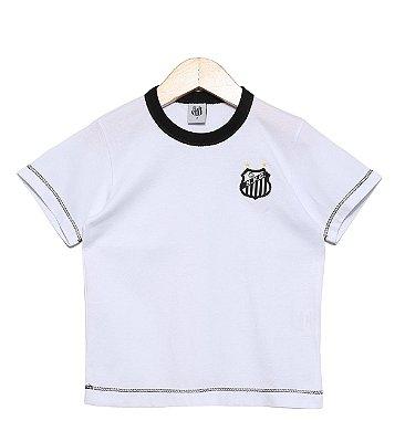 Camiseta Bebê Santos Branca Oficial