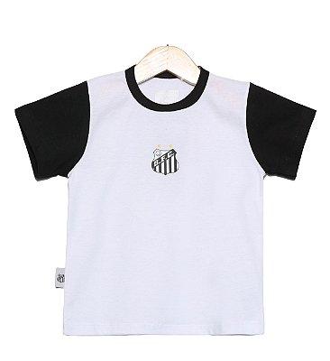 Camiseta Bebê Santos Bicolor Oficial