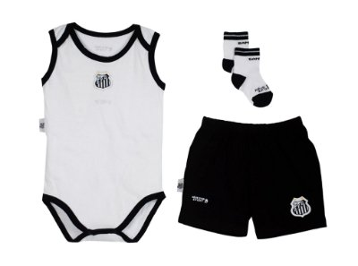 Kit Body Shorts e Meia Santos Infantil Oficial