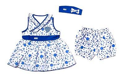 Vestido Bebê Avaí com Shorts e Tiara Revedor