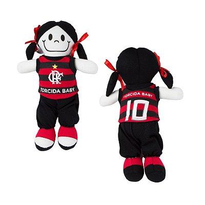 Boneca Torcedora Flamengo 25cm - Torcida Baby