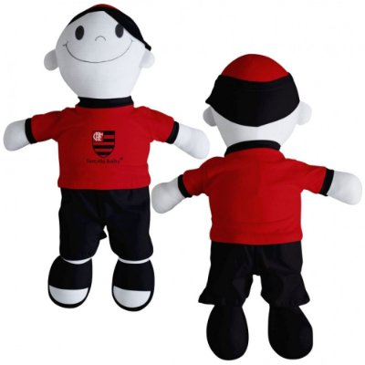 Boneco Torcedor Flamengo 48 cm - Torcida Baby