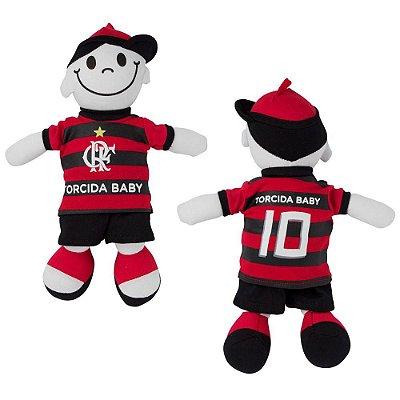 Boneco Torcedor Flamengo 25 cm - Torcida Baby