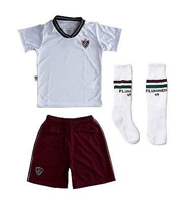 Conjunto Infantil Fluminense Uniforme Dry Oficial