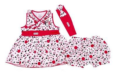 Vestido Bebê Joinville com Shorts e Tiara Revedor