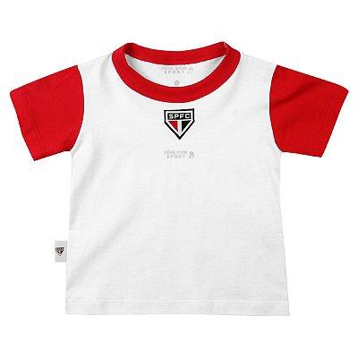 Camiseta Bebê São Paulo Bicolor Oficial