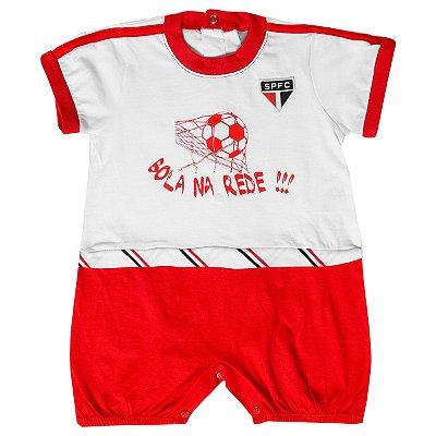 Macacão Bebê São Paulo Curto Bola Na Rede Oficial