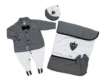 Kit Maternidade Atlético MG Luxo Meninos Oficial