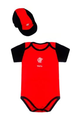 Kit Body e Boné Infantil Flamengo Oficial