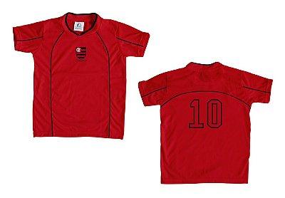 Camiseta Infantil Flamengo Vermelha - Torcida Baby