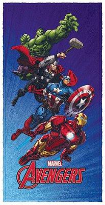 Toalha Infantil Avengers Os Vingadores 60 cm x 1,20 m - Lepper