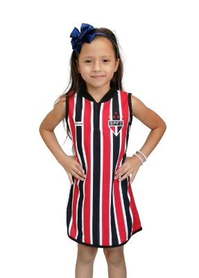 Vestido São Paulo Infantil Tubinho - Torcida Baby