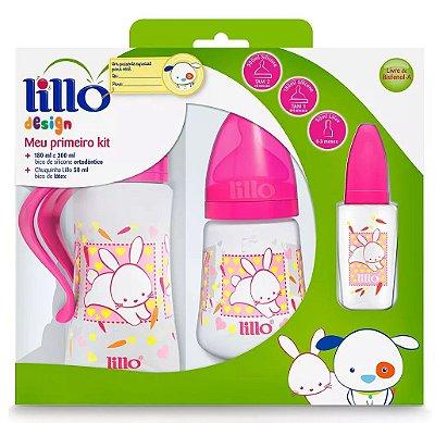 Kit Mamadeiras Lillo Design Rosa Com 3 Peças - Lillo