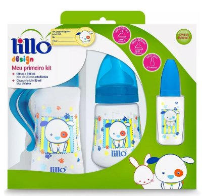 Kit Mamadeiras Lillo Design Azul Com 3 Peças - Lillo