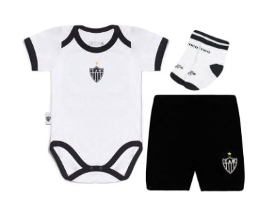 Kit Conjunto Atlético MG Body Shorts e Meia Oficial